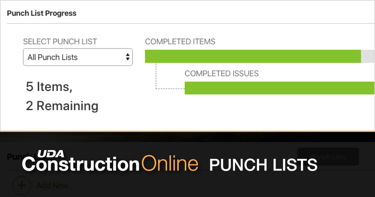 Punch List Now Available for ClientLink™ Portals