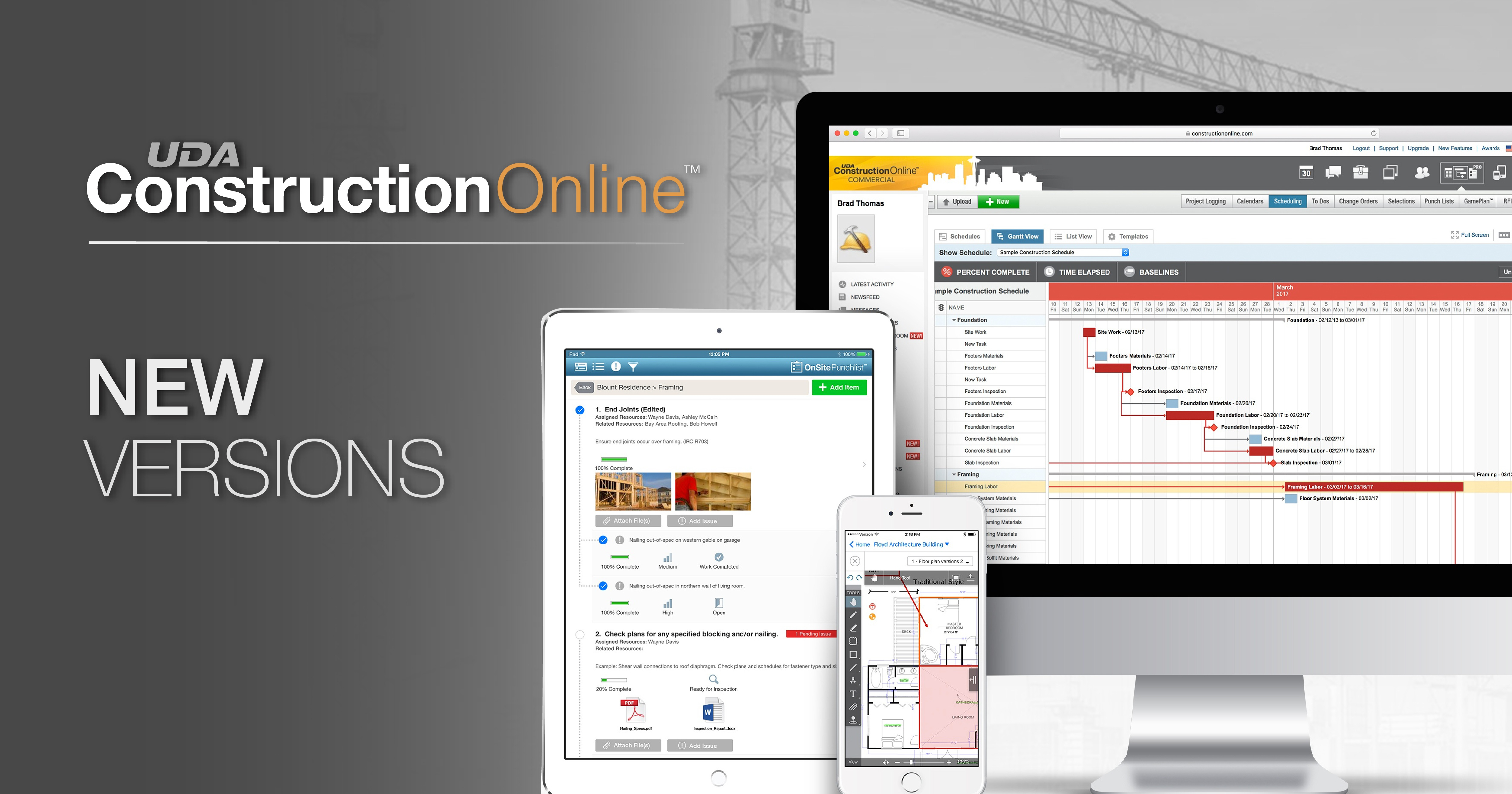UDA Introduces New Versions of ConstructionOnline
