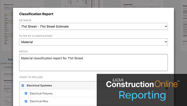 New Financial Reports Now Available for Advanced Construction Estimating Online